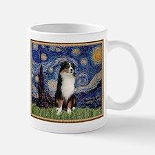 Starry Night and Australian Shepherd Mug