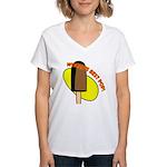 FIN-worlds-best-pop-popsicle.png Women's V-Neck T-
