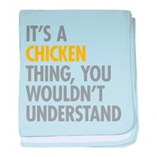 Its A Chicken Thing baby blanket