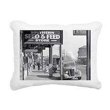 New Orleans Sidewalk, 19 Rectangular Canvas Pillow