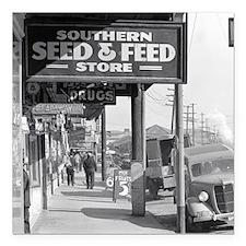 "New Orleans Sidewalk, 19 Square Car Magnet 3"" x 3"""