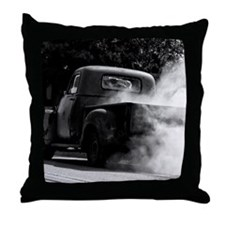 Vintage Truck Hot Smoking Tires Throw Pillow