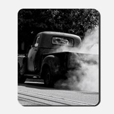 Vintage Truck Hot Smoking Tires Mousepad