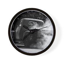 Vintage Truck Hot Smoking Tires Wall Clock