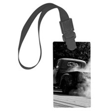 Vintage Truck Hot Smoking Tires Luggage Tag