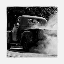 Vintage Truck Hot Smoking Tires Queen Duvet
