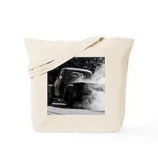 Vintage Truck Hot Smoking Tires Tote Bag