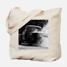 Vintage Truck Hot Smoking Tires Tote Bag