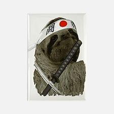 Samurai Sloth Rectangle Magnet