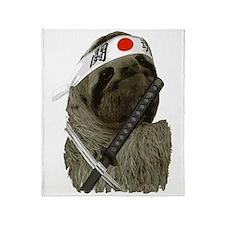 Samurai Sloth Throw Blanket