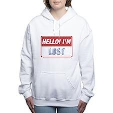 hello-im-lost-10X10.png Women's Hooded Sweatshirt