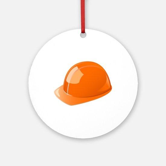 Construction Helmet Hardhat Ornament (Round)