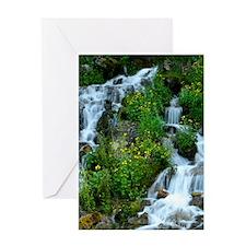 Mountain spring Greeting Cards