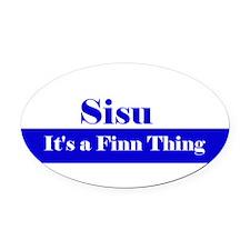 Cool Sisu Oval Car Magnet