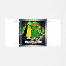 Save The Rainforest! Aluminum License Plate