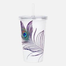 PEACOCK FEATHER Acrylic Double-wall Tumbler