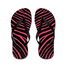 Cute Girly zebra Flip Flops
