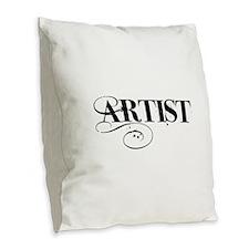 ARTIST Burlap Throw Pillow