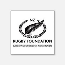 """Cute New zealand rugby Square Sticker 3"""" x 3"""""""