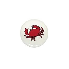Red Crab Mini Button (10 pack)