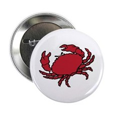 """Red Crab 2.25"""" Button (10 pack)"""