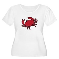 Red Crab Plus Size T-Shirt