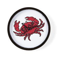 Crab Season Wall Clock