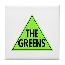 Green Party Logo Tile Coaster