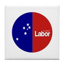Labor Party Logo Tile Coaster