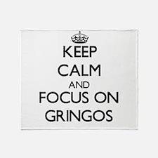 Funny I heart gringos Throw Blanket