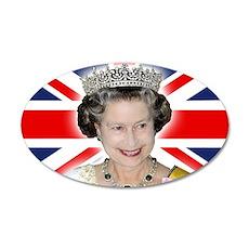 HM Queen Elizabeth II Wall Sticker