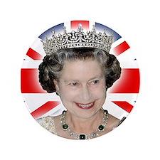 "HM Queen Elizabeth II 3.5"" Button"