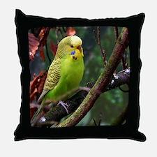 Cute Budgerigars Throw Pillow