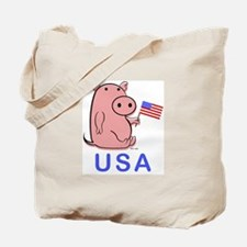 USA PINK PIG Tote Bag