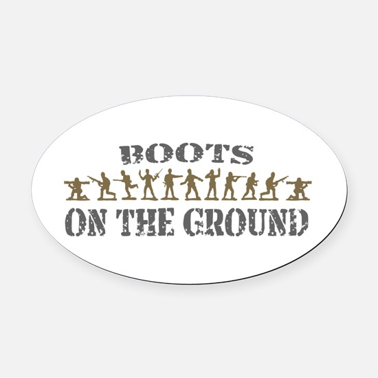 Cute Army officer Oval Car Magnet