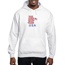 USA PINK PIG Hoodie