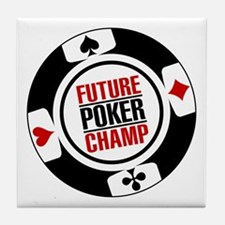 Future Poker Champ Tile Coaster
