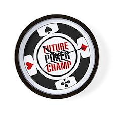 Future Poker Champ Wall Clock