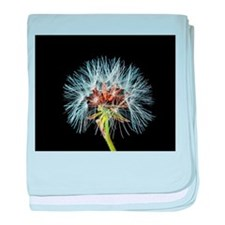 Cute Dandelion seeds blowing in the wind baby blanket