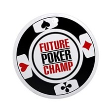 Future Poker Champ Ornament (Round)
