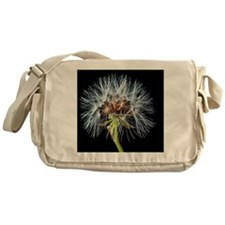 Unique Dandelion seeds blowing in the wind Messenger Bag