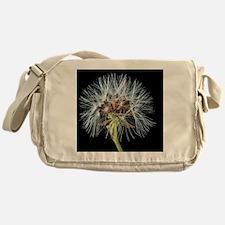 Unique Dandelion seeds blowing in the wind Messenger Bag