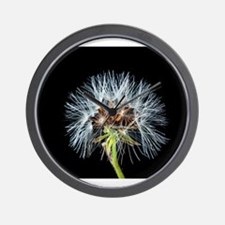 Cute Dandelion seeds blowing in the wind Wall Clock