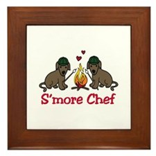 Smore Chef Framed Tile