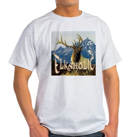Elkaholic Elk pride logo Light T-Shirt