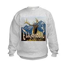Elkaholic Elk pride logo Sweatshirt