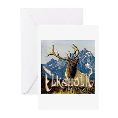 Elkaholic Elk pride logo Greeting Cards (Package o