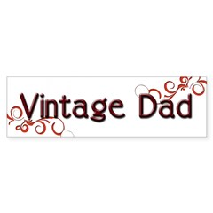 Vintage Dad Bumper Bumper Sticker