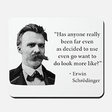 Friedrich Nietzsche Troll Quote Mousepad