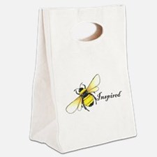 Cute Bee happy Canvas Lunch Tote